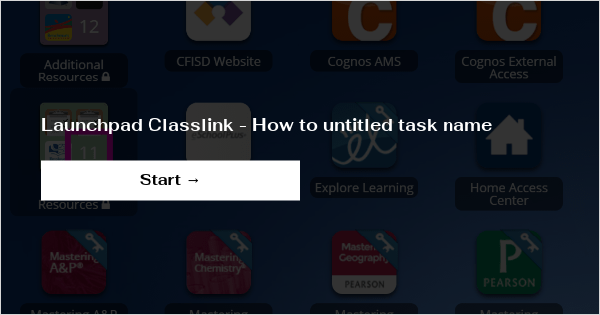 Launchpad Classlink How To Untitled Task Name