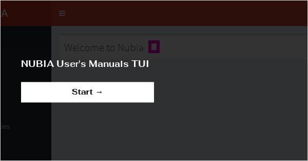 NUBIA User's Manuals TUI