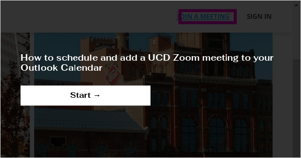 How to schedule and add a UCD Zoom meeting to your Outlook